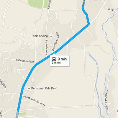 Lokalizacje - Dojazd doNosala